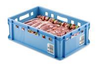 Blå slagterkasse