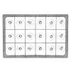 Opvaskekurve til 118x90 mm glas - 3x6 rum