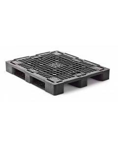 Plastpalle type 1210MR3RR m/3 meder m/kanter
