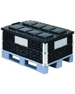 Plast palleramme type 1208, sort 1200x800x200mm
