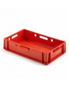 Kødkasse E1 600x400x125 mm - rød