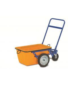 C- trolley til murerkar steel,coated,blå