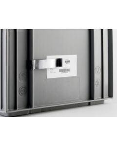 Etiketholder i stål  80x20 mm - 7 g - mørk stål