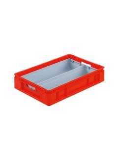 S-kasse/indsatsbeholder ½ - 560x178x80 mm - grå