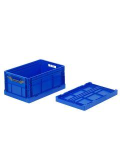 Foldekasse lukket 600x400x285/65 mm-blå