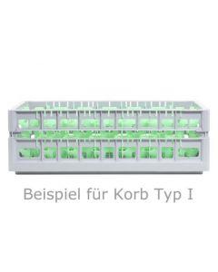 Opvaskekurv 600x400 mm - 145 mm - 15 glas