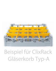 Opvaskekurv 500x500 mm - 73 mm - 4x4 glas