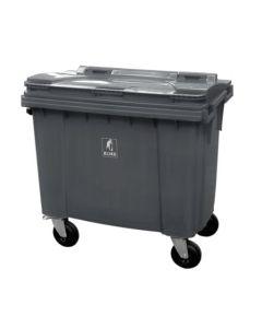 Affaldscontainer 4-hjulede 660 L - antracitgrå
