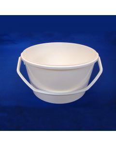Plastspand 189 - 2,2 L. m/ plasthank - Hvid