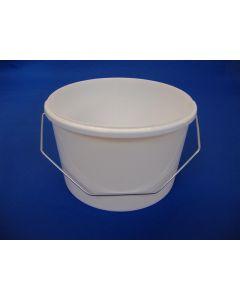 Plastspand 2191 - 2,6 L. m/metalh.- Hvid
