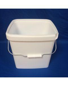 Plastspand 6140-14 L.m/ metalh. - Hvid
