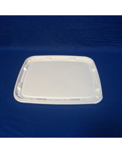 Plastlåg 6141 - 292x255 mm - Hvid