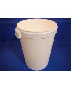 Plastspand 8430-42,3 L.m/håndt. - Hvid