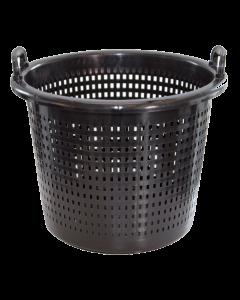 Plastkurv  44 liter  perforeret - Sort