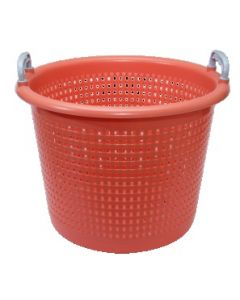 Plastkurv  44 liter  perforeret - Orange